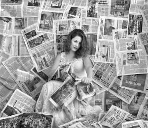 Boda novia periódicos.