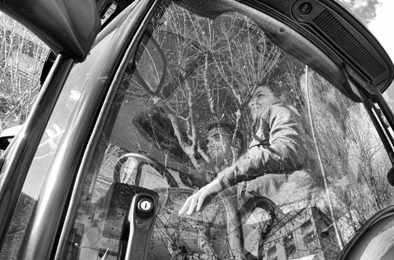Manifestación del olivar tractores 09