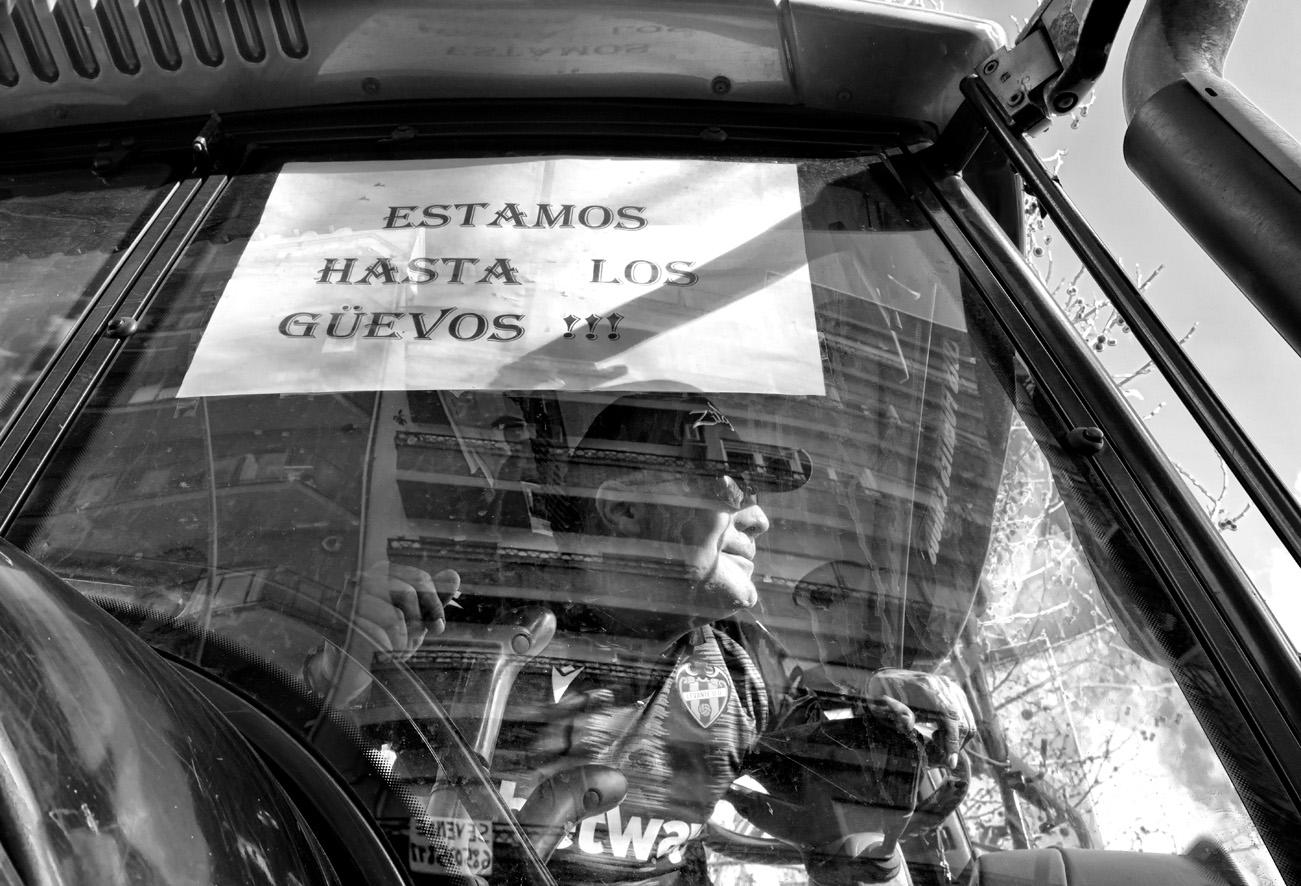 Manifestación del olivar tractores 10
