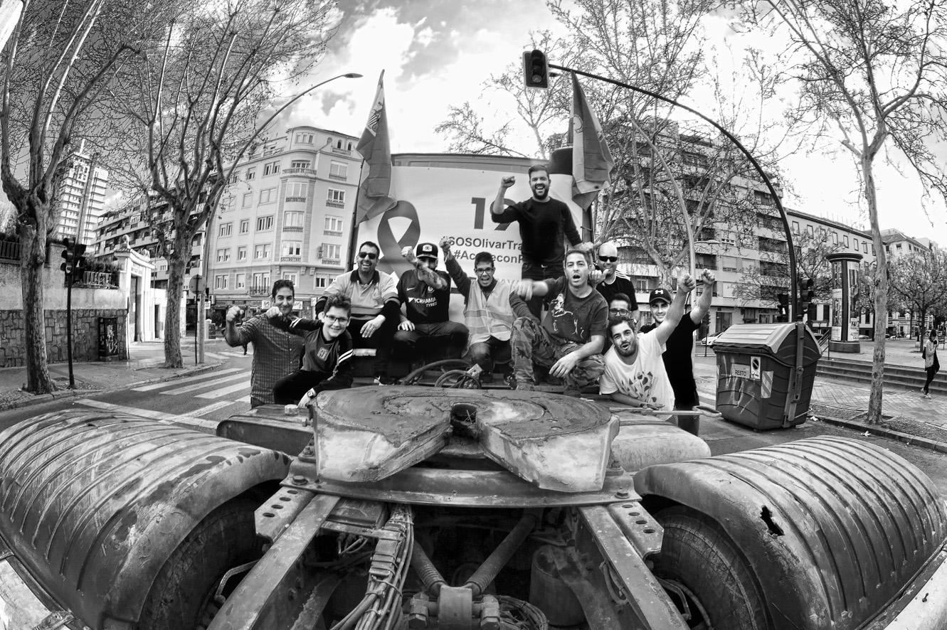 Manifestación del olivar tractores 17